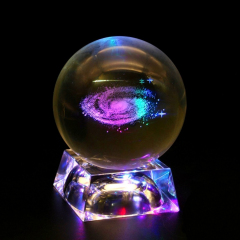 Wholesale K9 crystal ball base /laser engraved crystal ball led light base