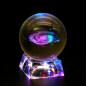 Wholesale K9 crystal ball base /laser engraved crystal ball led light base