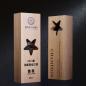 Customized 80*50*240mm Beech Wood Awards, Super Star Awards