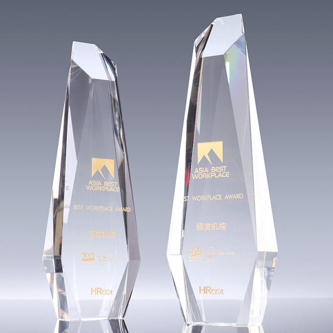 85*40*270mm Hexagonal Prism  Clear Crystal Trophy, CT1162