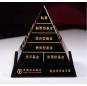 high quality black crystal pyramid Custom crystal trophy tower