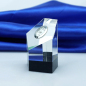 High quality desk crystal clock trophy for business gift