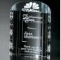 High quality hlaf cylinder crystal trophy awards for 3D laser engraving semicircle block award for gifts