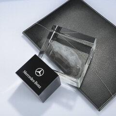 Wholesale crystal craft gift Custom laser engraving car model logo 3d crystal cube for souvenir