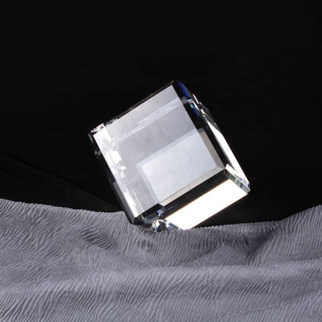 Wholesale optical K9 crystal blank 3D laser engraving cube