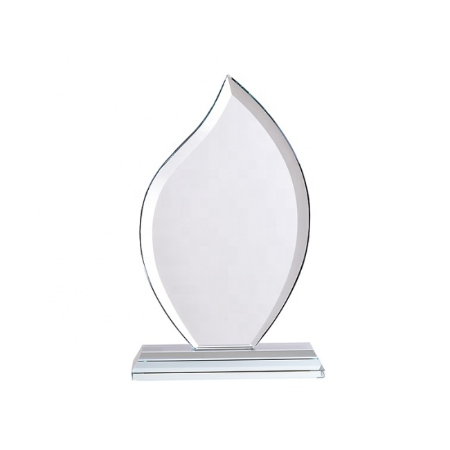 Wholesale Cheap Custom Personalised Award Crystal Glass Trophy With Engraved Logo