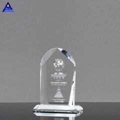 Arch Shape Crystal Customized Award Trophy With Globe Image