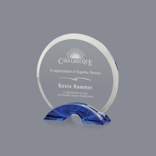 Wholesale China Trade Factory Supply Circle Shaped Clear K9 Crystal Blank Glass Award