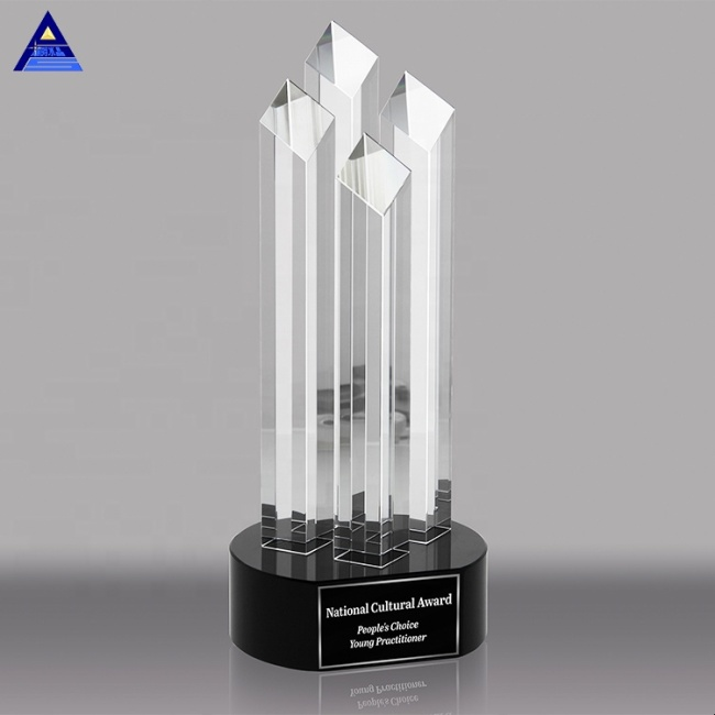 Customized Clear Blank k9 Crystal Trophy For Award and Souvenir