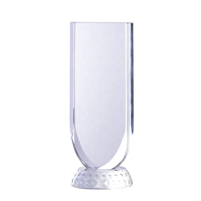 Latest Style High Quality Crystal Sport Cup Trophy Blank Crystal Award Plaque For Winner