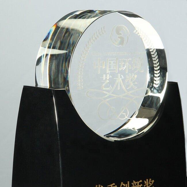 Clear Customized Wedding Gift New Design Award Black Crystal Trophy Award Crystal Plaque Block