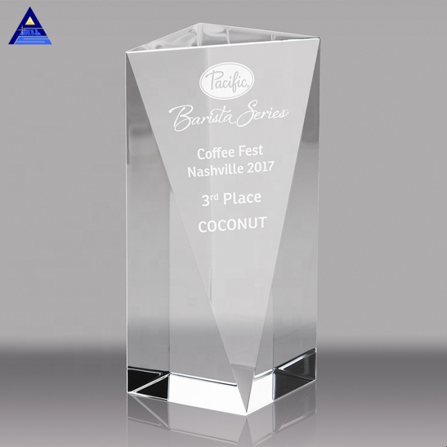 3D Laser Engraving Customized Obelisk Crystal Trophy