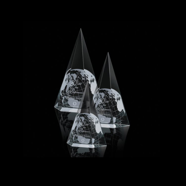 High Quality Ice Mountain Carving Glass Award Crystal Trophy Graduation Gifts