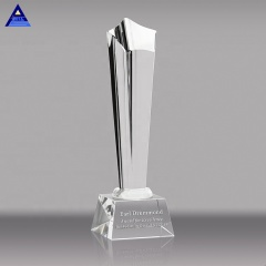 Wholesale Crystal Trophy Metal Star Plaque Crystal Glass Awards Trophy For Business Gift