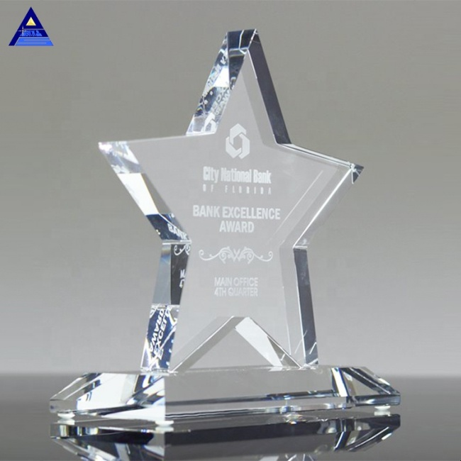 New Arrival Blank Luminary Crystal Star Achievement Award For Business Gifts