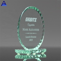 Champions Mini Custom Pearl Edge Circle Dance  Cheapest Glass Trophy Award