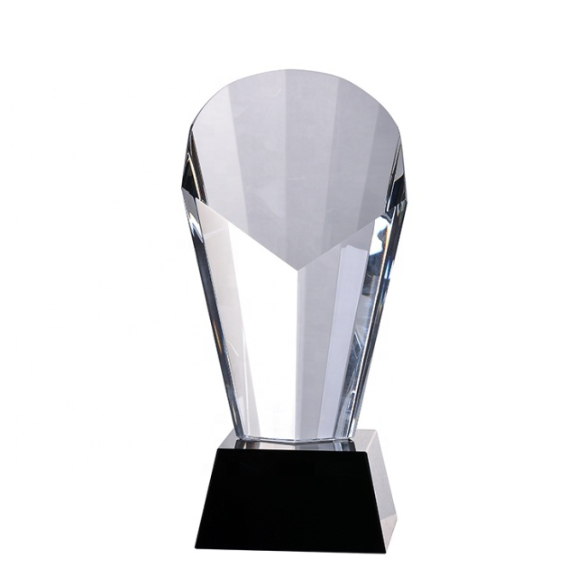Wholesale Hot Sale Personalized Custom Blank Crystal Glass Souvenir Award Trophy For  Cheap Sale