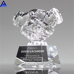 2019 Wholesale Directly Factory Hot Selling Handshake Blank Glass Award