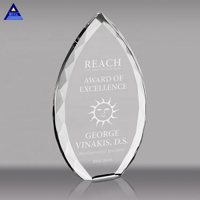 Wholesale High-Quality Blank Customizable Logo Transparent Photo Crystal Trophy For Business Gift