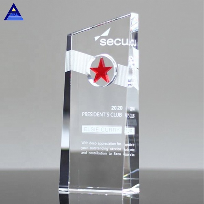 Classical Star Tower Award Trophy Design Crystal Trophy Columns
