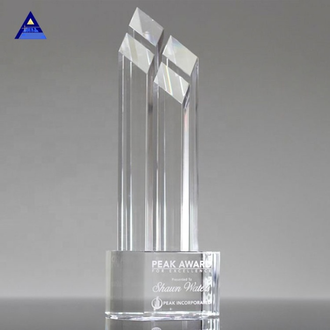 2019 Wholesale Natural Obelisk Crystal Trophy For Business Gift