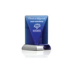 New Design Quality Blank Custom Crystal Pillar Obelisk Trophy Award, Crystal Customized Trophy