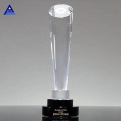 Brand new trophy crystal obelisk award with high quality