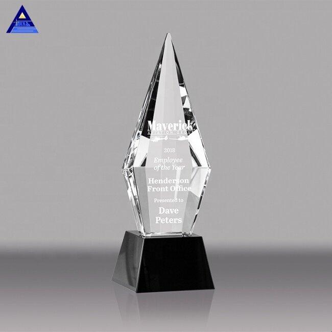 Sandblasting Crystal Awards for Custom Engraving Trophy Awards