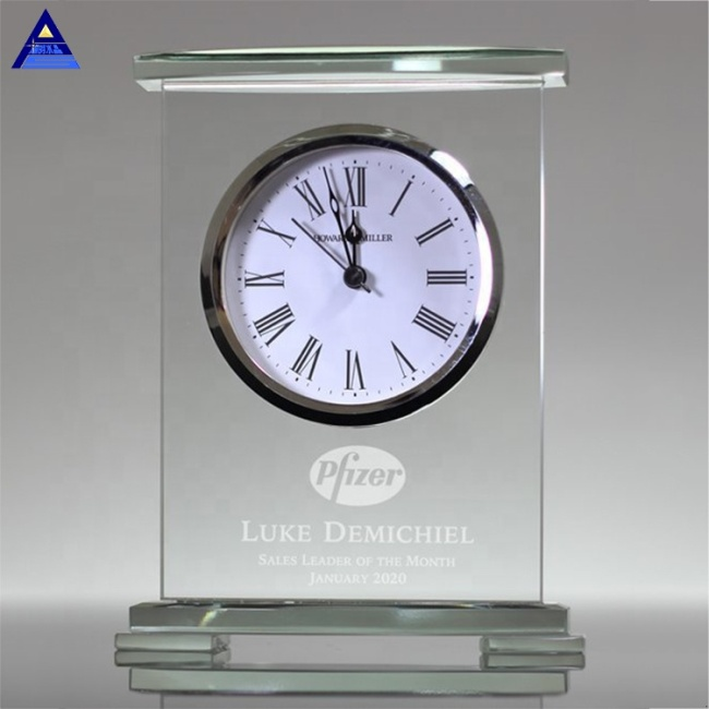 Spot Wholesale Transparent Movado Crystal Quartz Desk Clock