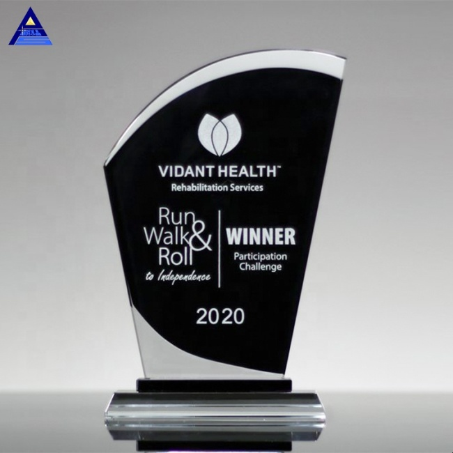 2019 New Design Flame Shaped K9 Crystal Award Trophy For Excellent Employee Or Team