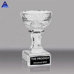 Luxury Creative Customize Import Golf Souvenir Glass Big Shape Trophy Cup Crystal Bowl