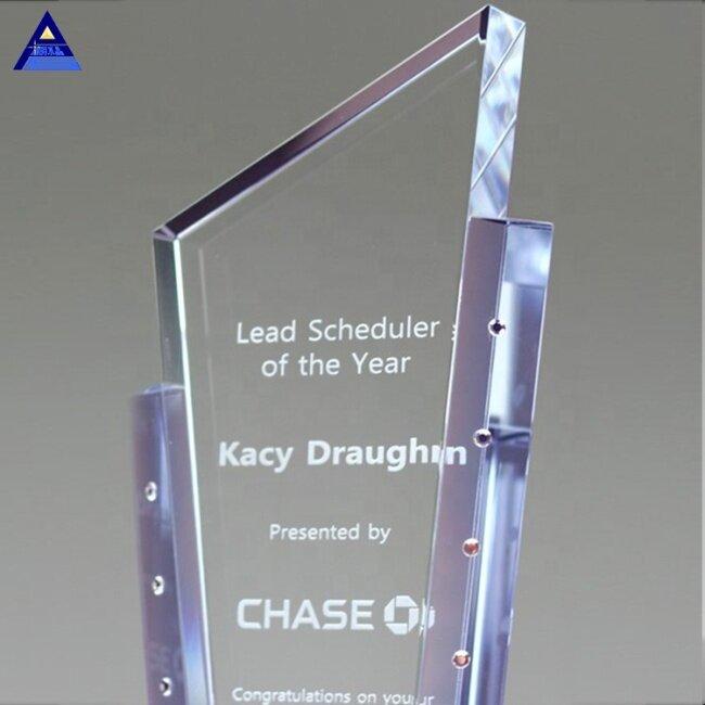 Personalized Fashion Custom Glass Crystal Tesoro Plaques Awarding