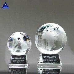 Custom Crystal Globe World Earth Trophy Awards for Teachers Children Graduation Souvenirs