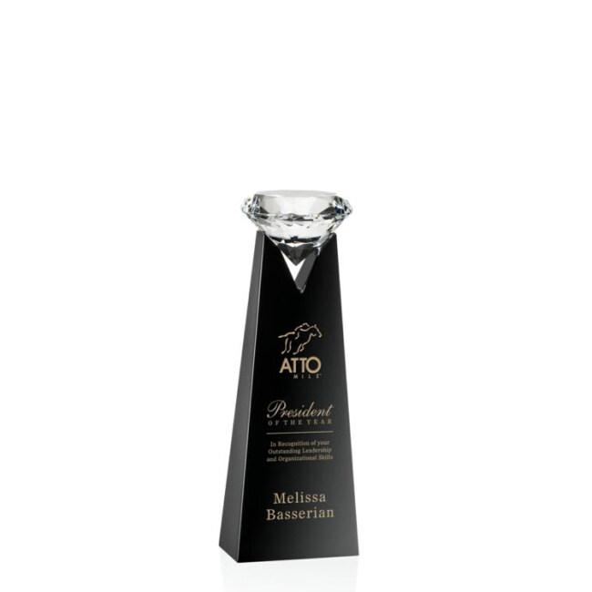 2020 New Fashion Black Base V-shaped Wholesale Diamond Shape Crystal Award