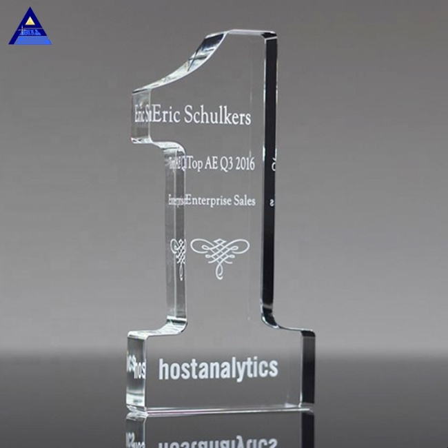 Best Selling Personalized Engraving Crystal Teacher Of The Year Award Trophy
