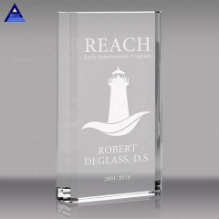 China Manufacturer Best Selling Custom Logo Block Crystal Award Trophy For Decoration Wall Can Be Customized