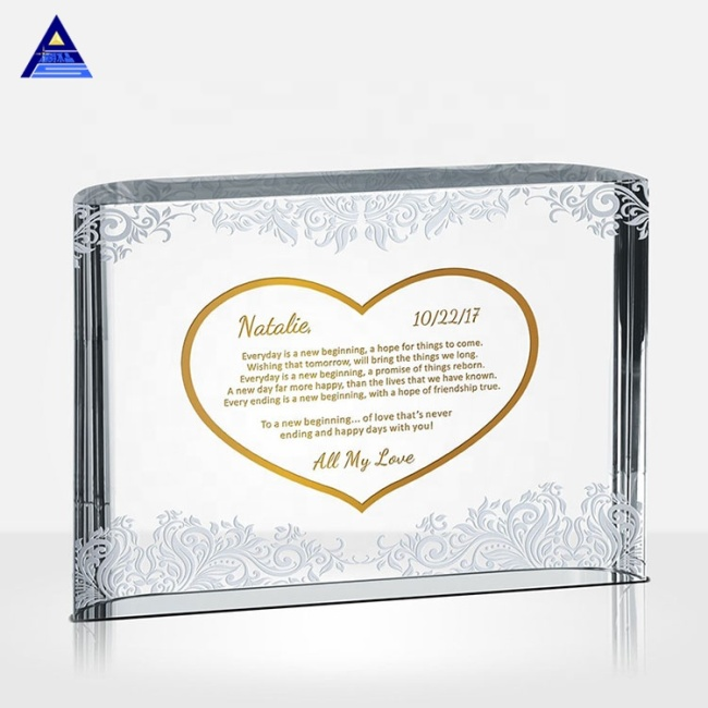 Factory customization 3d laser k9 blank  crystal cube block paperweight crafts for your engraving wedding gifts