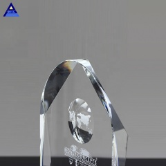 Arch Shape Crystal Customized Award Trophy With Globe Image