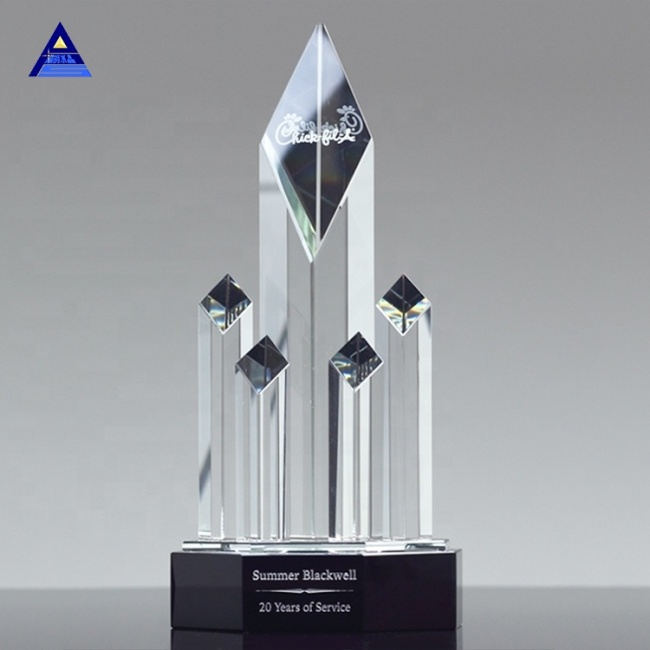 Unique Obelisk Crystal Trophies and Awards Customize Service Awards Gifts