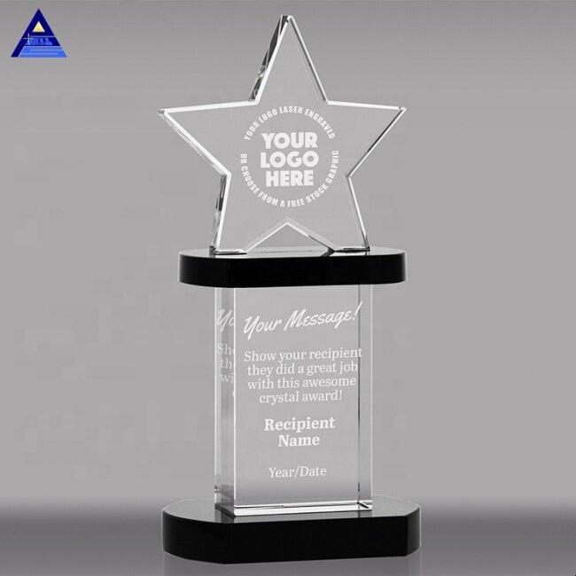 FS-D010 Customized Engraving Shining Star Crystal Award Trophy
