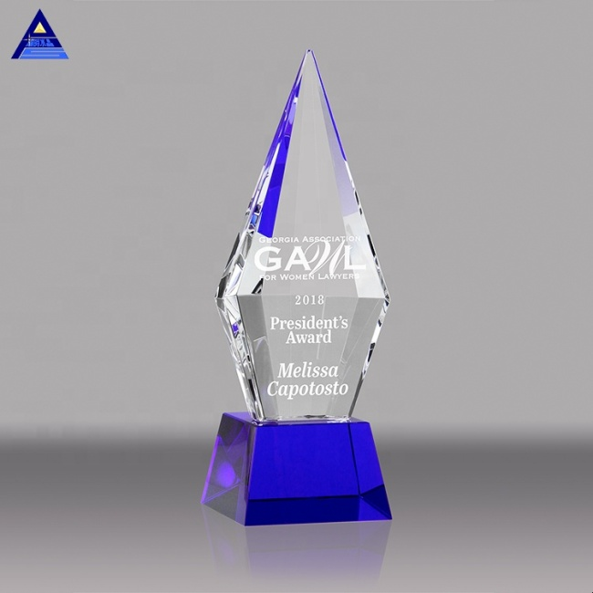 Cheap Blank Laser Engraved Crystal Iceberg Trophy Glass Transparent Award For Souvenirs
