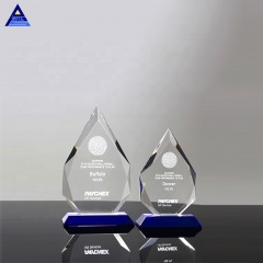 Factory Direct Selling Customized Logo Engraved Barona Diamond Crystal Souvenir