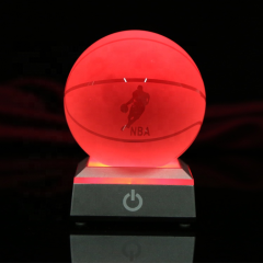 Figure Engraving Block With Base/crystal Cube/crstal Blacnk Light Glass Led 3d Laser Crystal For Valentine's Day