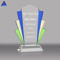 Wholesale Custom Clear K9 Crystal Trophy Cheap Awards Plaque Graduation Crystal Corporate Gift With Base