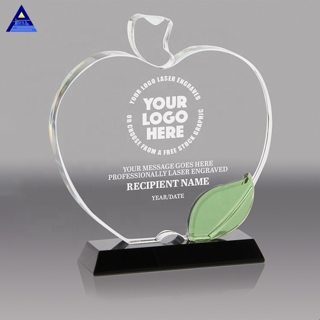 Fashion Crystal Glass Awards And Trophies/Contemporary Crystal Apple Trophy