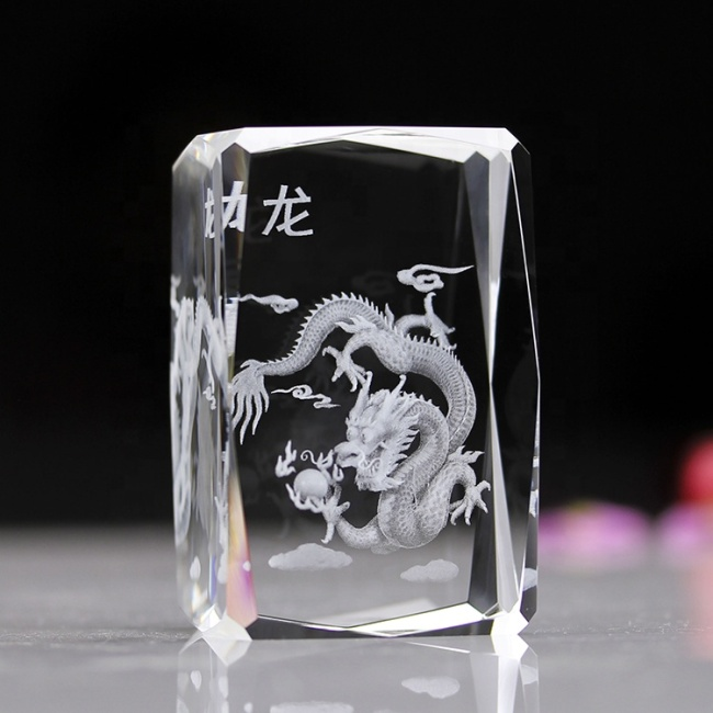 Chinese Zodiac Signs Birthday gifts 3D Laser Crystal For Birthday gifts 3D Laser Crystal