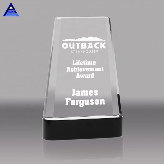 High Quality Custom Mountain Optical Crystal Trophy Awards Blank For Laser Engraving