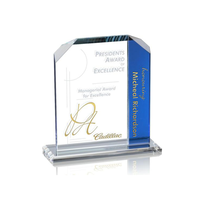 Creative Customize Crystal For Honor Gift Shields Slap-up Trophy Transparent Glass Frame Photo Award Certificate Template