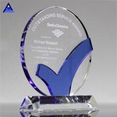 2019 High Quality Creative Custom Round Shaped K9 Crystal Trophy Award