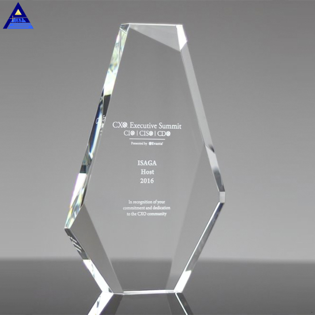 Hight Quality Iceberg Shape Blank Crystal Award For Business Souvenir Gifts